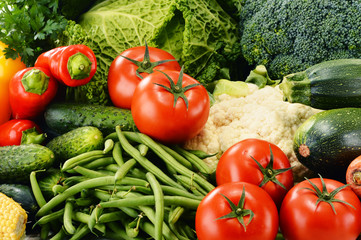 Variety of fresh organic vegetables. Detox diet