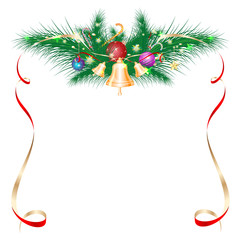 Christmas card as a frame, vector.