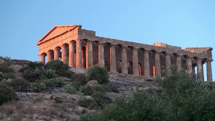 Valley of the Temples . Temple of Concordia. Sicily