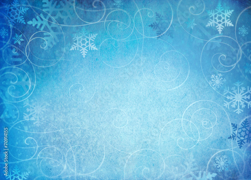 canvas print picture Snowflake background with whimsical swirls.