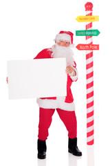 Sign-Holding Santa