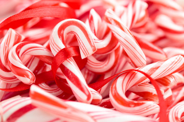 Candycanes background.