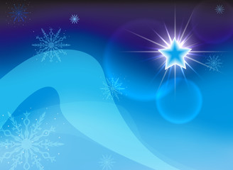 Christmas star on a blue background