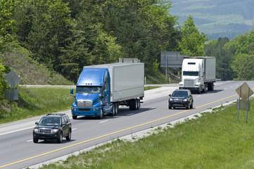 Interstate Traffic In Mountainous Area