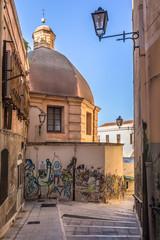 Sardegna, Cagliari, vico Manno e Chiesa di San Sepolcro