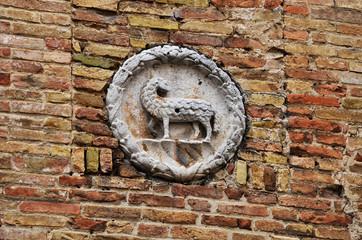San Gimignano - Particolare sul muro