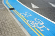 Blauer Radweg CS3 in London