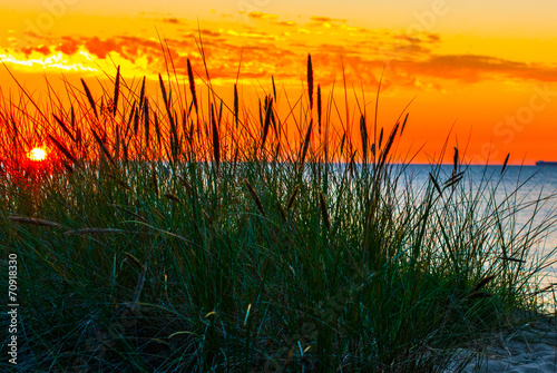 Sunset over the sea - 70918330