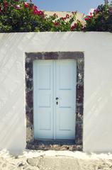 Blue traditional door