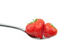 canvas print picture - Erdbeeren Löffel