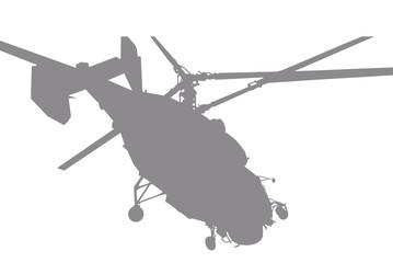 helicóptero cinza