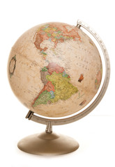 vintage world globe desk lamp
