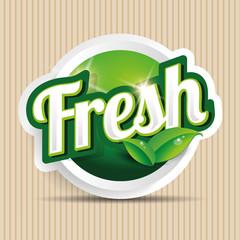 fresh food label, badge or seal