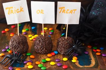 Halloween Sweets brazilian brigadeiro, chocolate candy