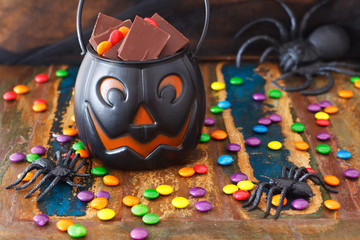 Halloween Sweets chocolate candy, spide