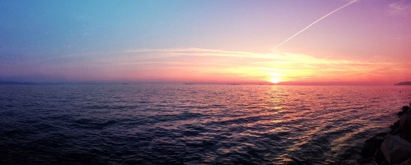 Amazing sunset at Trieste - Italy