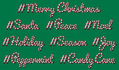 Hashtag Christmas - Candy Cane