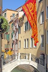 Venice flag, Veneto, Venetia, Italy