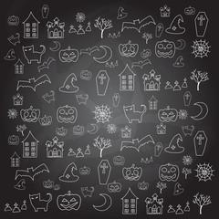 cartoon halloween doodle element