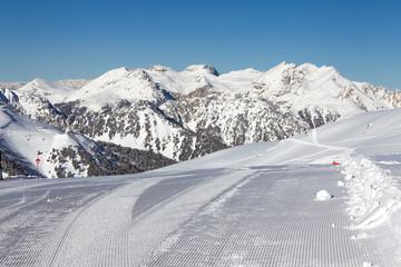 prepared ski slope.