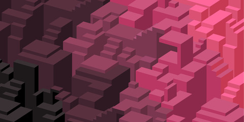 Purple and pink design background with blocks