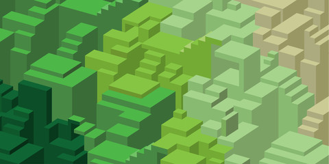 Green design background with blocks