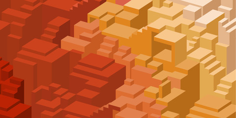 Red design background with blocks