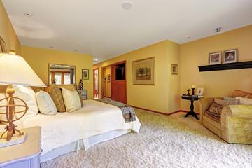 Very cozy master bedroom interior