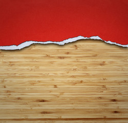 Paper on wood