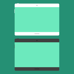 Tablet in flat style
