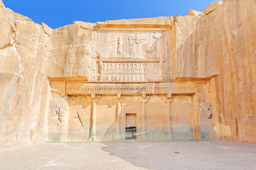 Tomb of Artaxerxes III at Persepolis in north Shiraz, Iran.