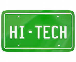 Hi-Tech License Plate Modern New Technology Digital Car Automobi