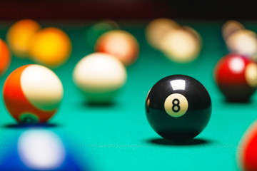 Billiard balls / A Vintage style photo from a billiard balls in