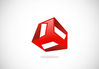 abstract cube box vector logo