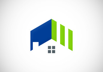 roof home realty abstract vector logo