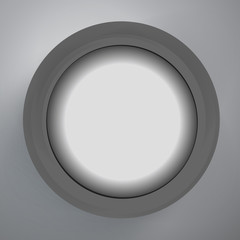 Black circle design on the grey background, vector illustration