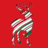 Reindeer Cutout peppermint candy