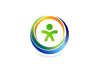 health logo people fitness circle design vector.zip