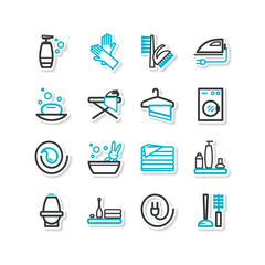 Set of icons - a cleaning