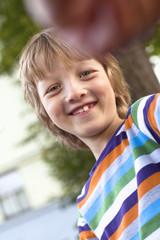 Portrait of a Happy Boy