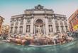 Trevi Fountain (Vintage style). Rome - Italy.