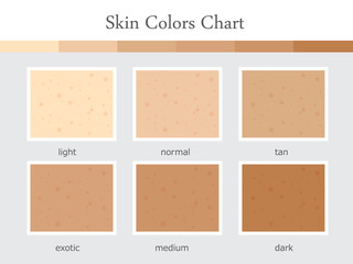 6 step start at light to be dark skin