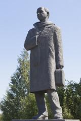 Памятник поэту Николаю Михайловичу Рубцову в городе Вологде