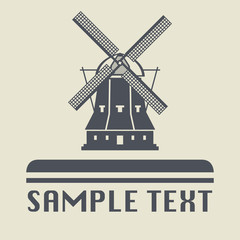 Windmill icon or sign