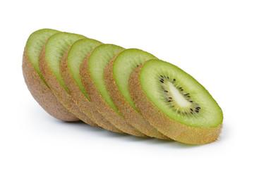 fresh ripe kiwi fruit slices