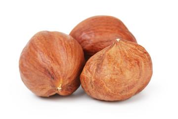 three hazelnut kernels
