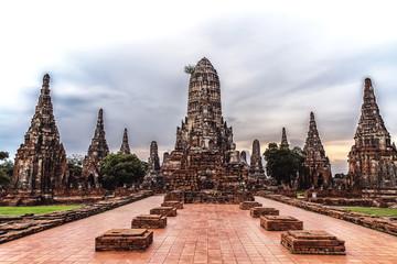 Wat Chai Watthanaram in Ayutthaya Thailand
