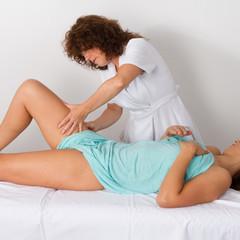 Les jambes massage