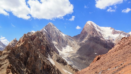 Energy and Chimtarga. Panorama. Time Lapse. Fans, Tajikistan 4K