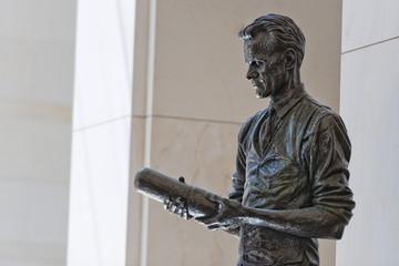 Copper statue inside Washington capitol dome